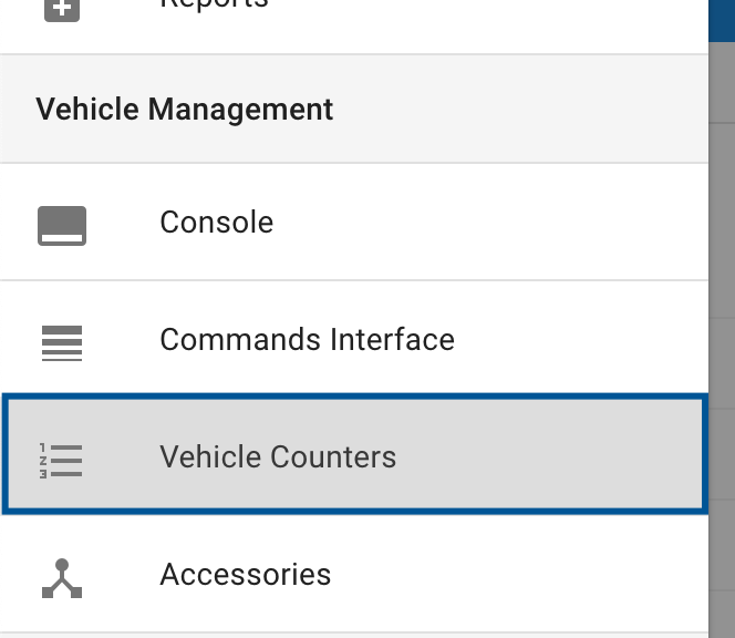 Vehicle Counters application