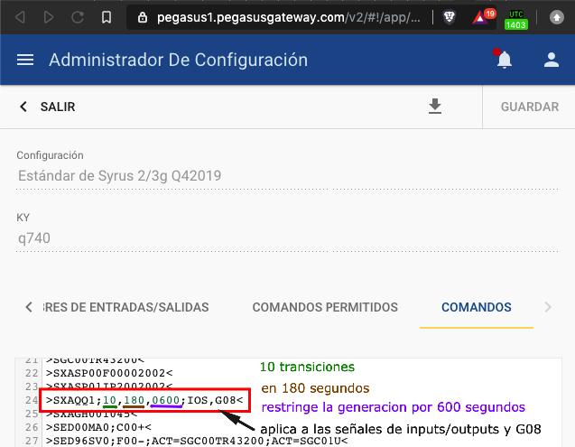 Signal ban example