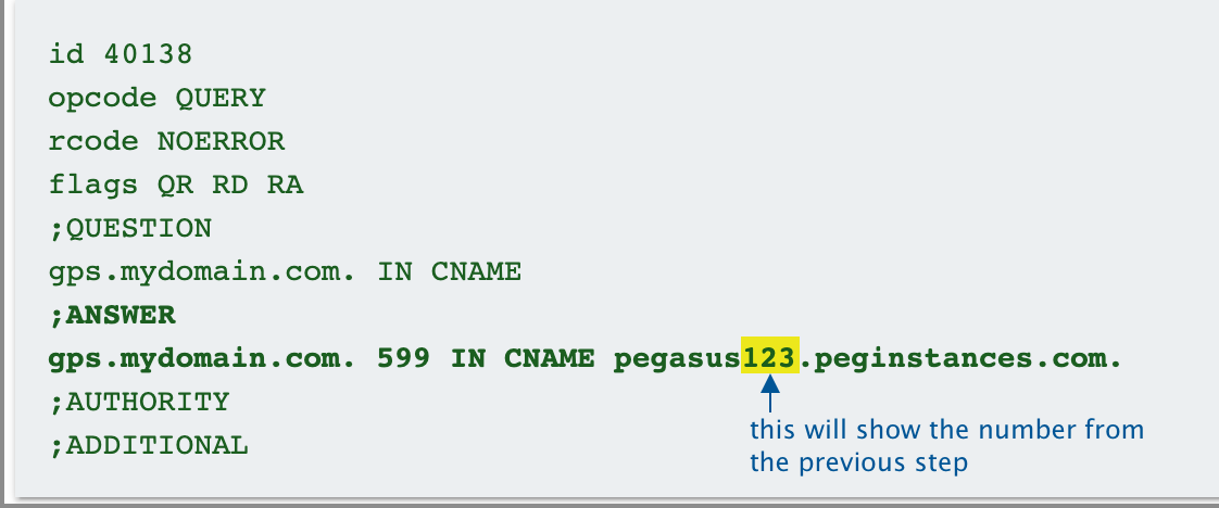 CNAME results from Dig